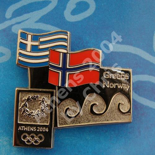 #04-150-135 Norway participating country athens 2004 2500pcs