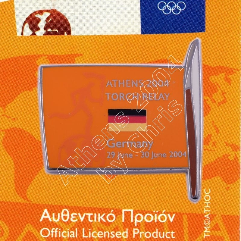 #04-169-020 Torch Relay International Route With Greek Flag Germany 2004 olympic pin