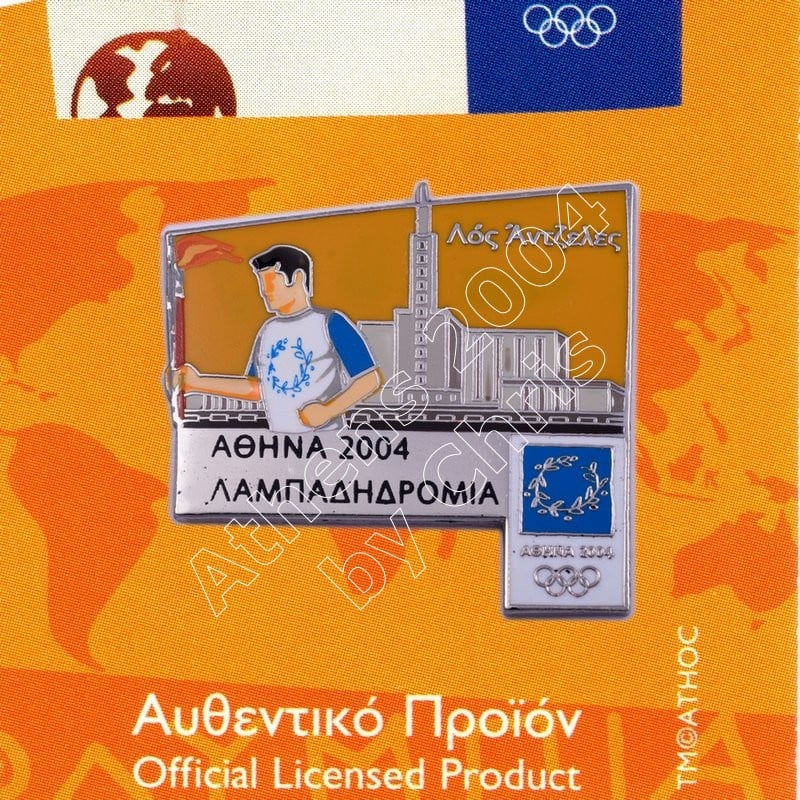 #04-171-015 Torch Relay International Route City Los Angeles Athens 2004 olympic pin