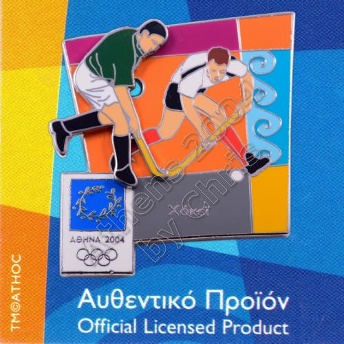 03-051-016 Hokey moving sport Athens 2004 olympic games pin 1