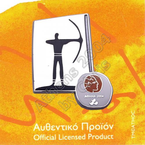 #04-116-020 Archery Paralympic Sport Pictogram Pin Athens 2004