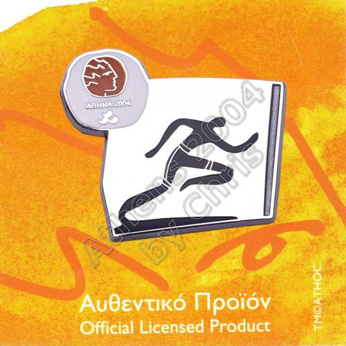#04-116-021 Ipc Athletics Paralympic Sport Pictogram Pin Athens 2004