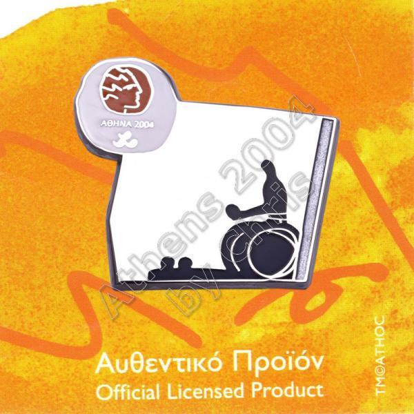 #04-116-022 Boccia Paralympic Sport Pictogram Pin Athens 2004