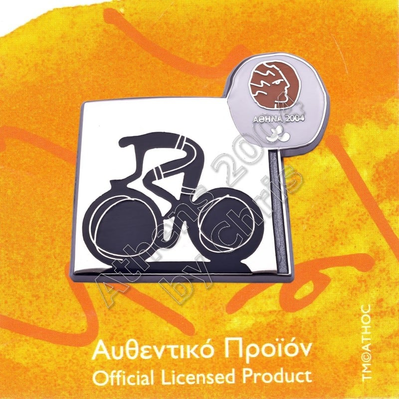 #04-116-023 Cycling Paralympic Sport Pictogram Pin Athens 2004