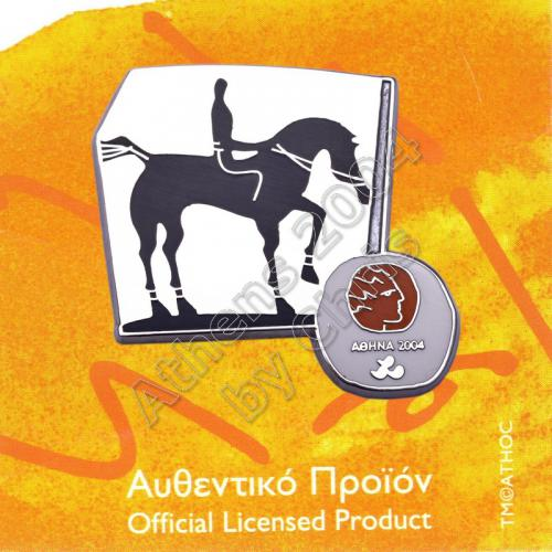 #04-116-024 Equestrian Paralympic Sport Pictogram Pin Athens 2004
