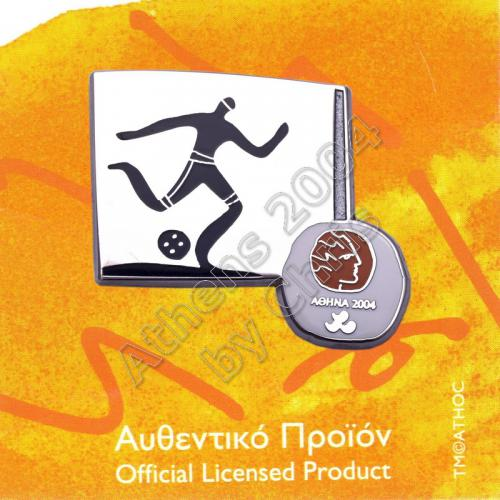 #04-116-025 Football 5 Paralympic Sport Pictogram Pin Athens 2004