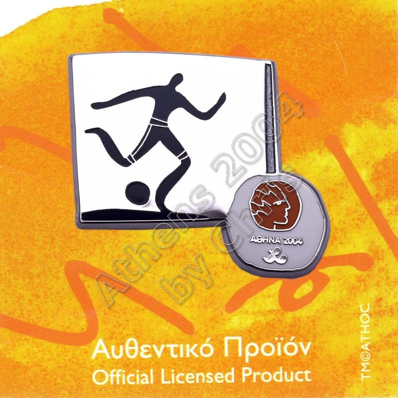 #04-116-026 Football 7 Paralympic Sport Pictogram Pin Athens 2004