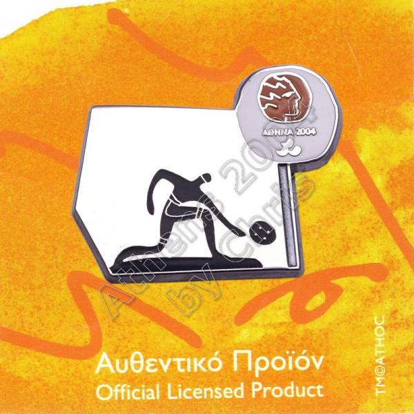 #04-116-027 Goalball Paralympic Sport Pictogram Pin Athens 2004