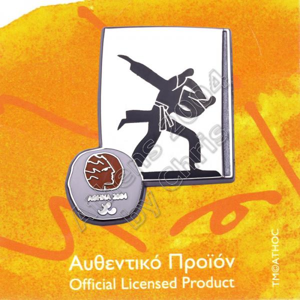 #04-116-028 Judo Paralympic Sport Pictogram Pin Athens 2004