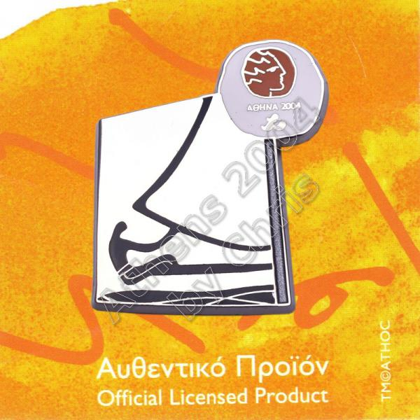 #04-116-030 Sailing Paralympic Sport Pictogram Pin Athens 2004