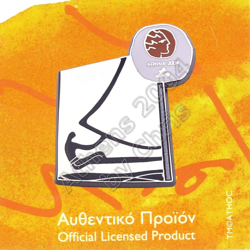 #04-116-030 Sailing Paralympic Sport Pictogram Pin Athens 2004