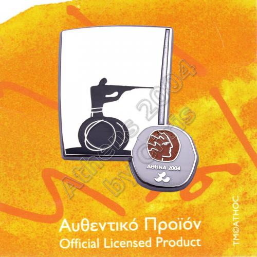 #04-116-031 Ipc Shooting Paralympic Sport Pictogram Pin Athens 2004