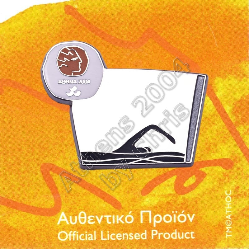 #04-116-032 Ipc Swimming Paralympic Sport Pictogram Pin Athens 2004