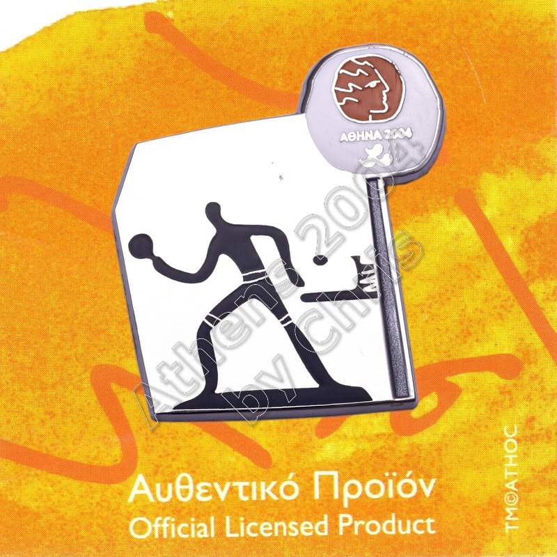 #04-116-033 Table Tennis Paralympic Sport Pictogram Pin Athens 2004