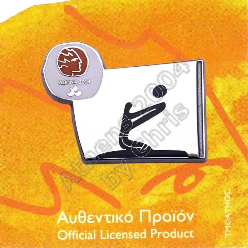 #04-116-034 Sitting Volleyball Paralympic Sport Pictogram Pin Athens