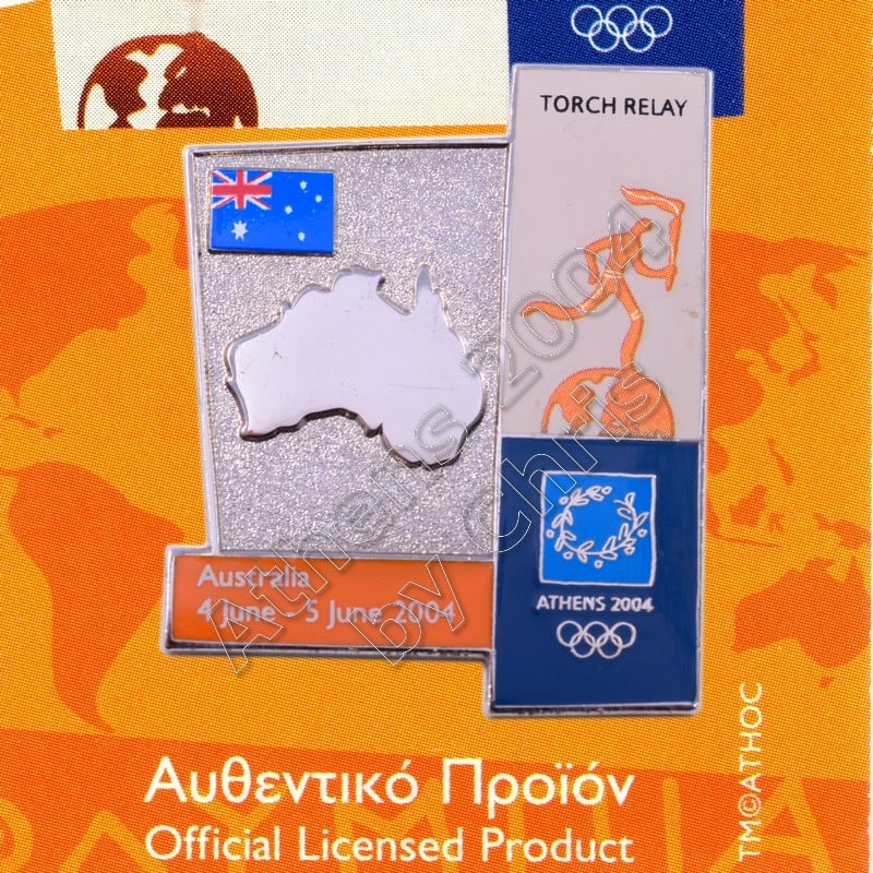 04-164-002 torch relay route countries map Australia