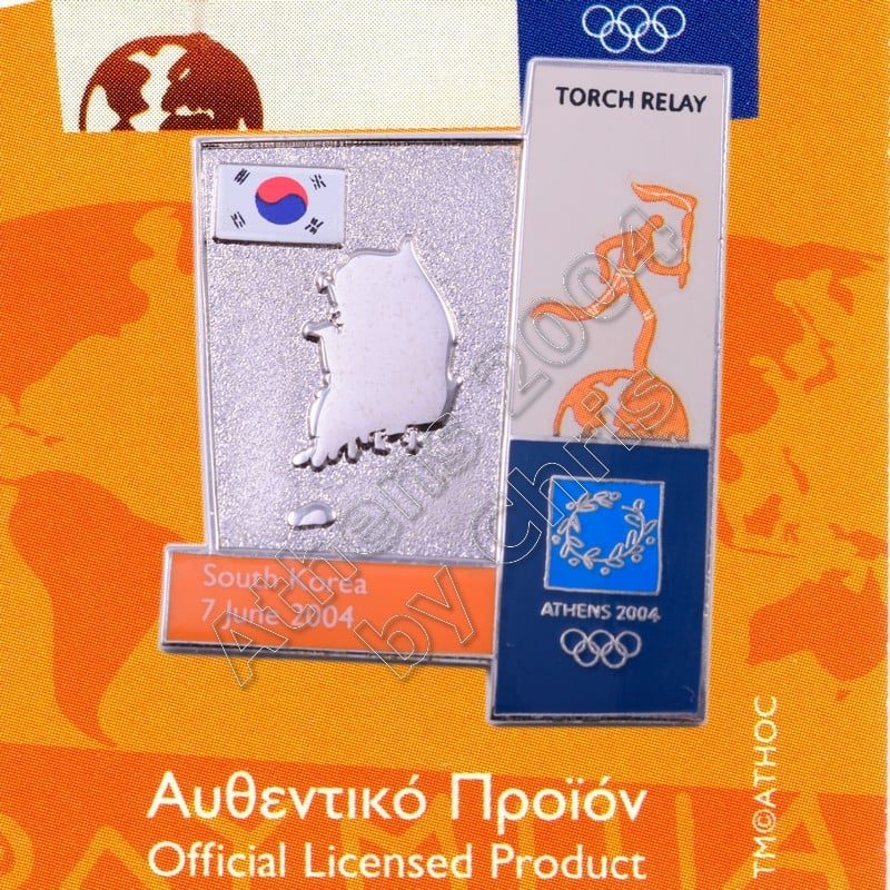 04-164-004 torch relay route countries map South Korea
