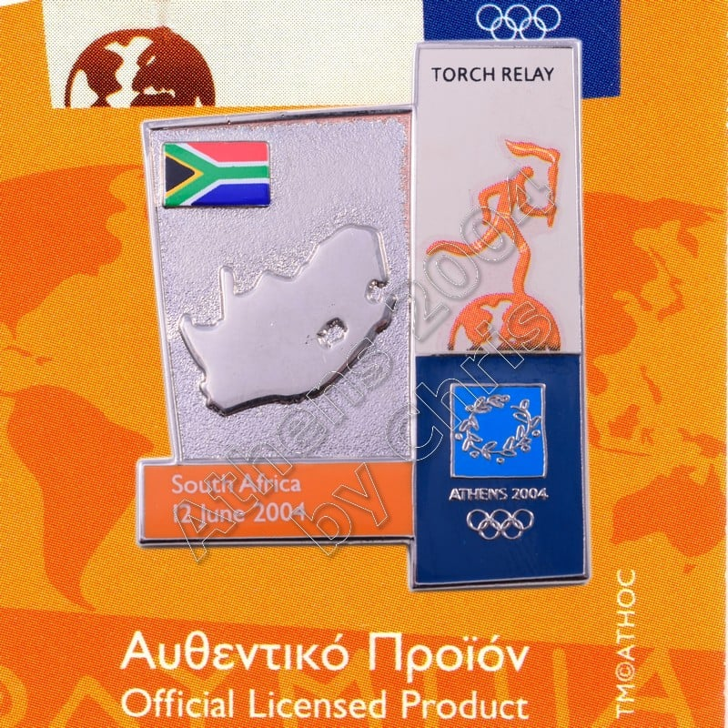 04-164-008 torch relay route countries map South Africa