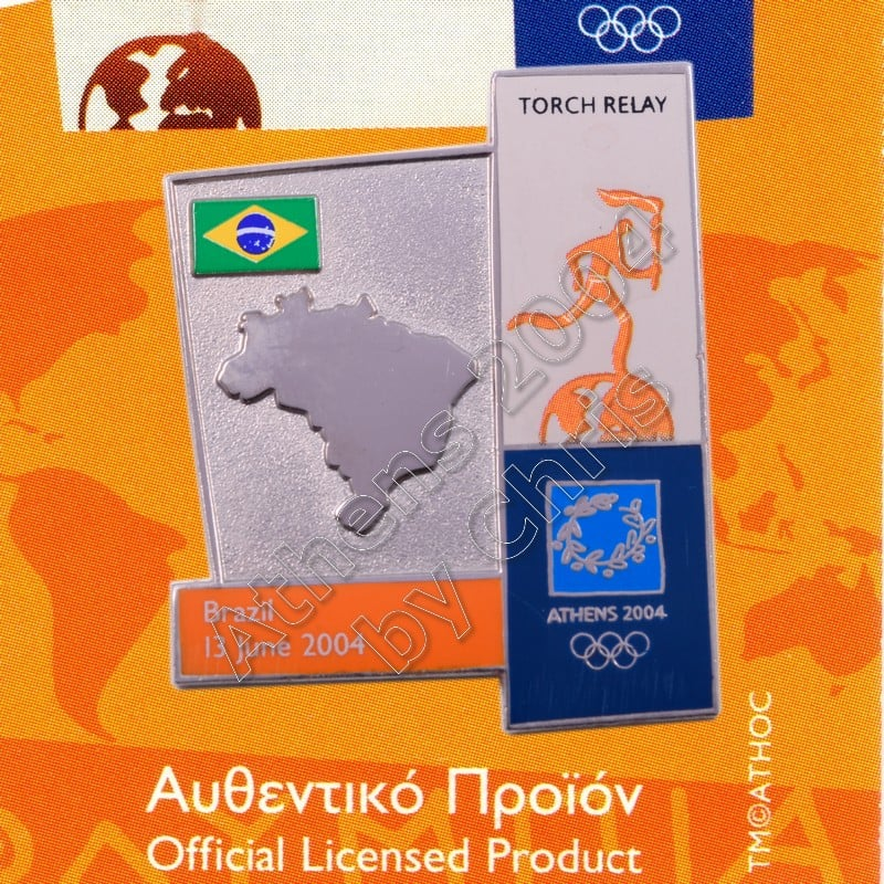 04-164-009 torch relay route countries map Brazil