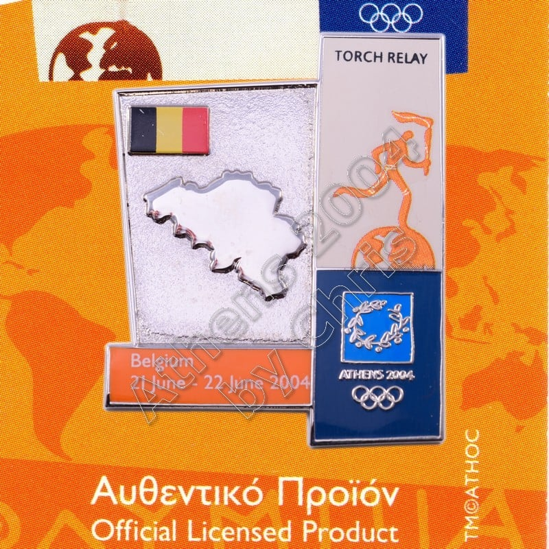 04-164-013 torch relay route countries map Belgium