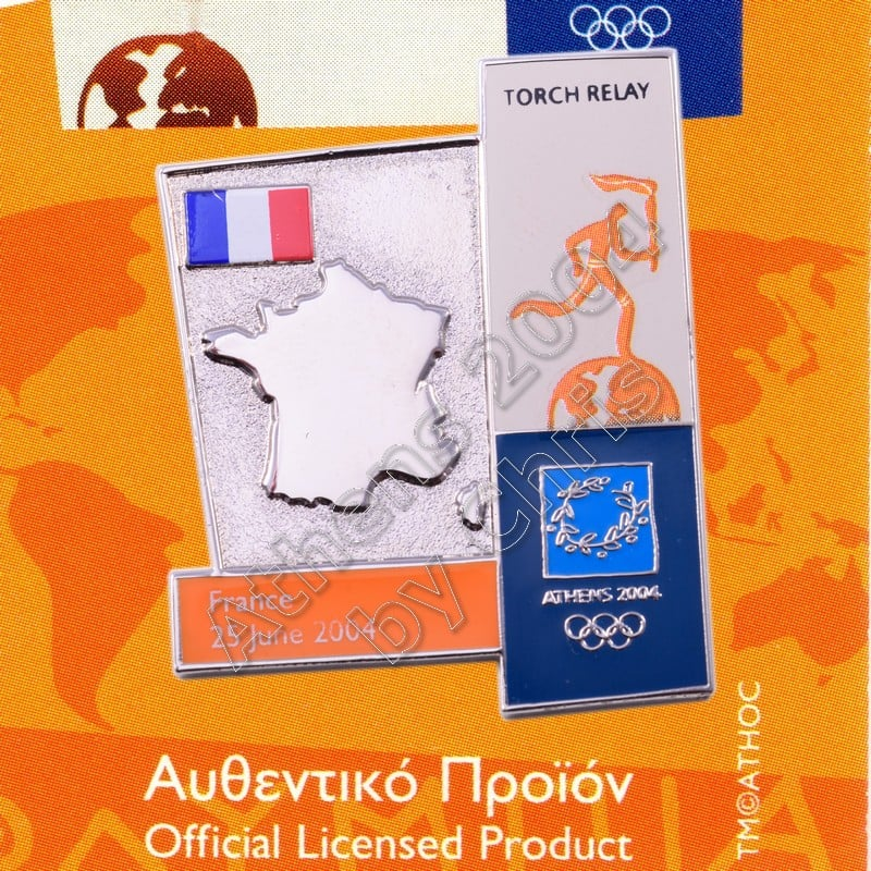 04-164-016 torch relay route countries map France