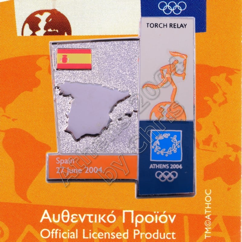 04-164-018 torch relay route countries map Spain