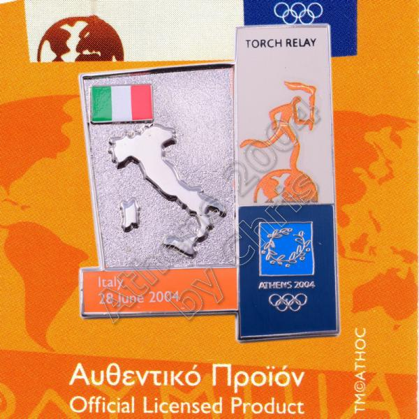 04-164-019 torch relay route countries map Italy