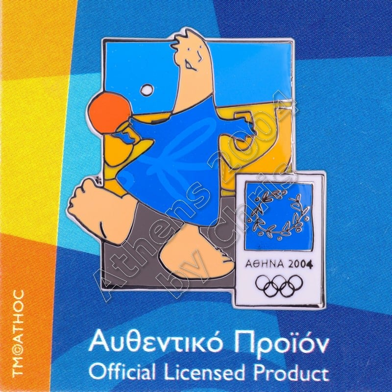 03-004-012 Table Tennis sport with mascot Athens 2004 olympic pin