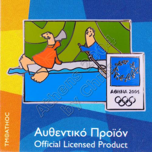 03-004-020 Rowing sport with mascot Athens 2004 olympic pin