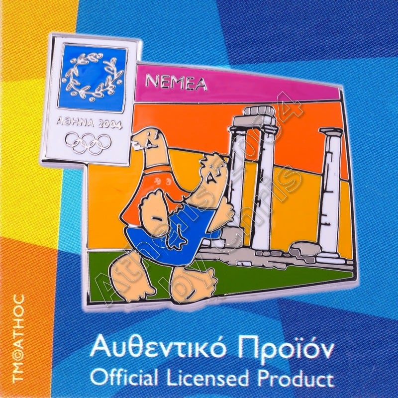 03-059-003 Nemea Temple of Zeus Athens 2004 Olympic Mascot Pin