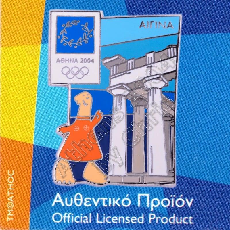 03-059-009 Aegina Temple Aphaia Athens 2004 Olympic Mascot Pin
