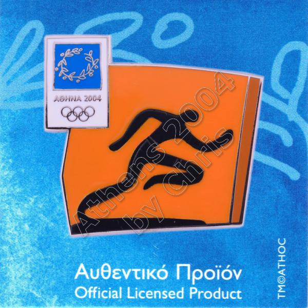 03-074-002 Athletics sport Athens 2004 olympic pictogram pin