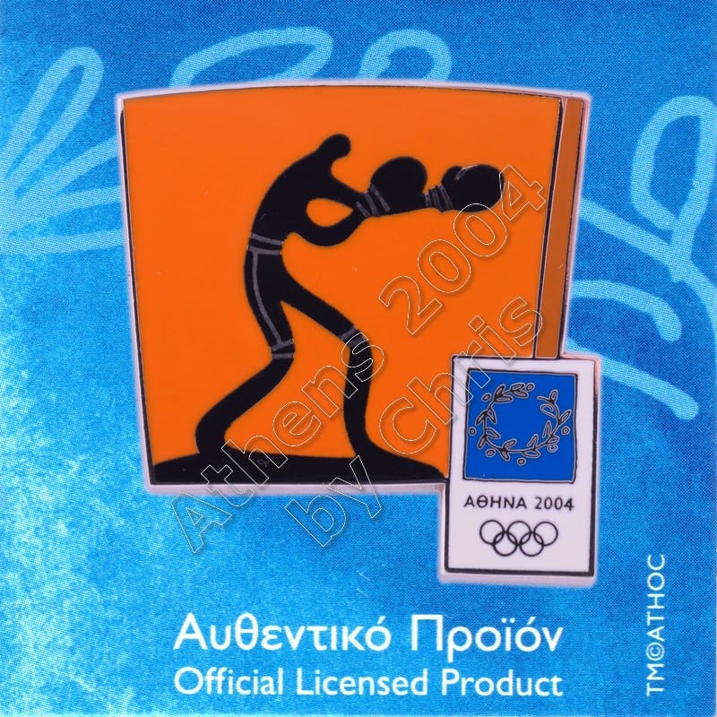 03-074-006 Boxing sport Athens 2004 olympic pictogram pin