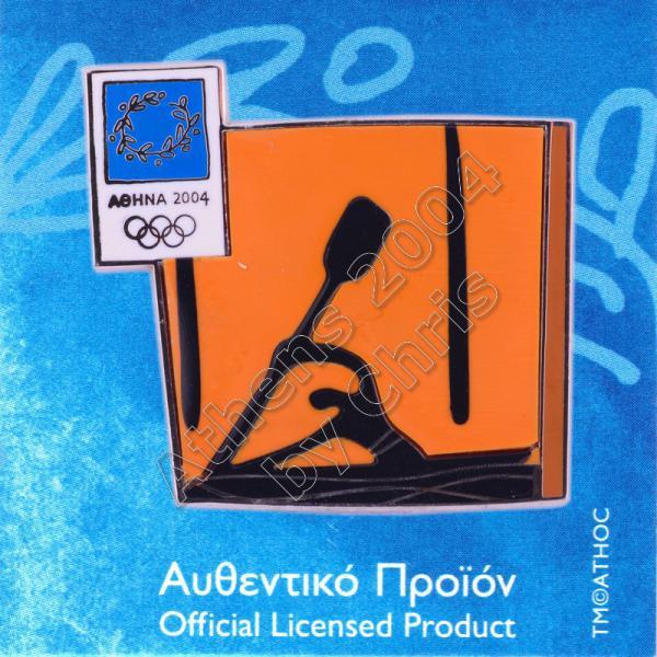 03-074-008 Canoe Kayak Slalom sport Athens 2004 olympic pictogram pin