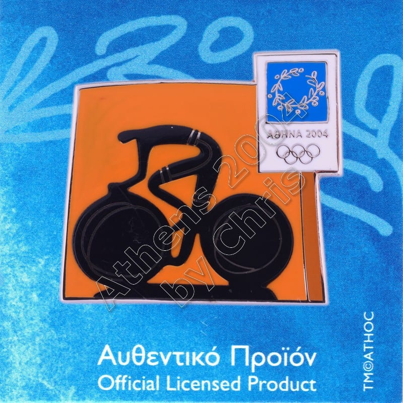 03-074-009 Cycling sport Athens 2004 olympic pictogram pin