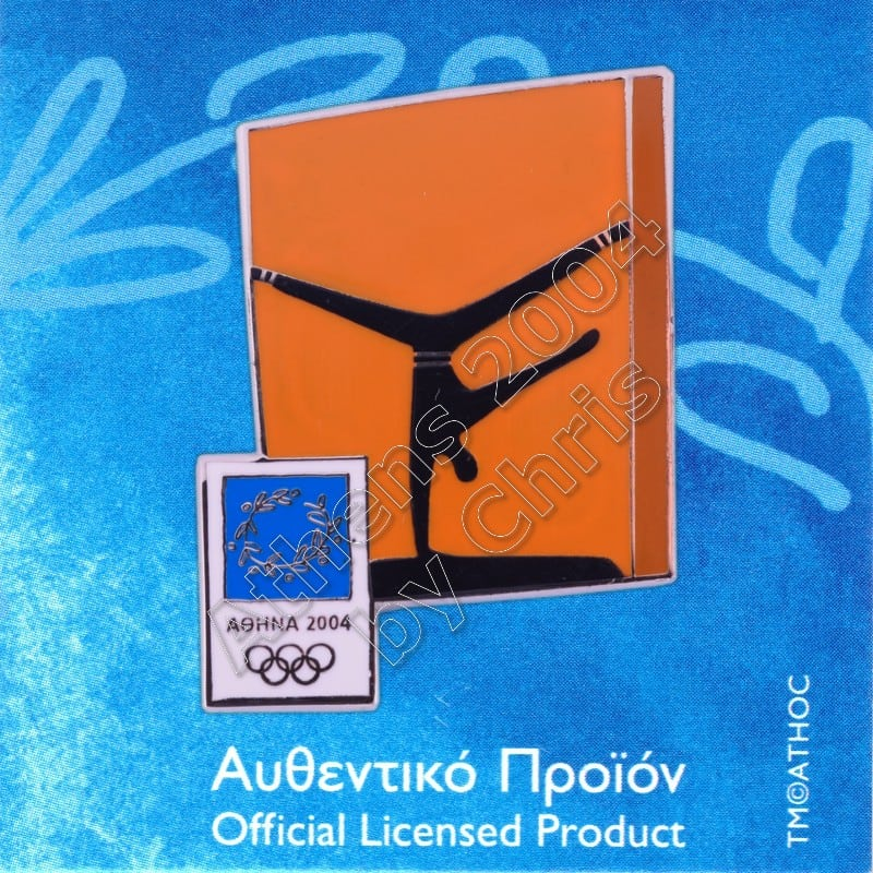 03-074-014 Artistic Gymnastics sport Athens 2004 olympic pictogram pin