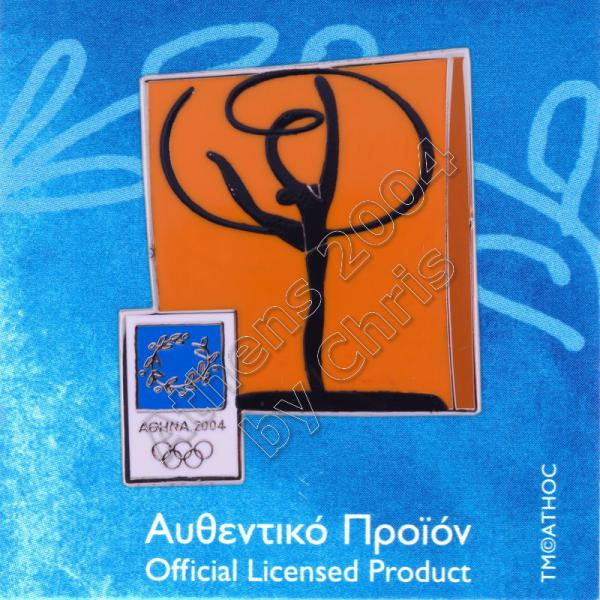 03-074-015 Rythmic Gymnastics sport Athens 2004 olympic pictogram pin