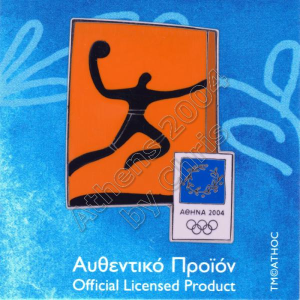03-074-017 Handball sport Athens 2004 olympic pictogram pin