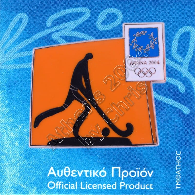 03-074-018 Hockey sport Athens 2004 olympic pictogram pin