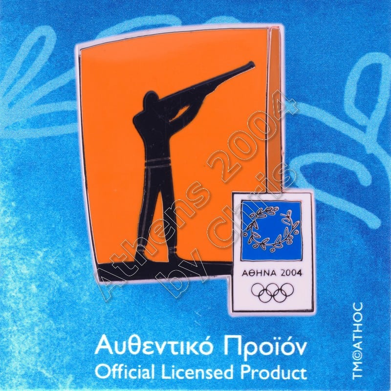 03-074-023 Shooting sport Athens 2004 olympic pictogram pin