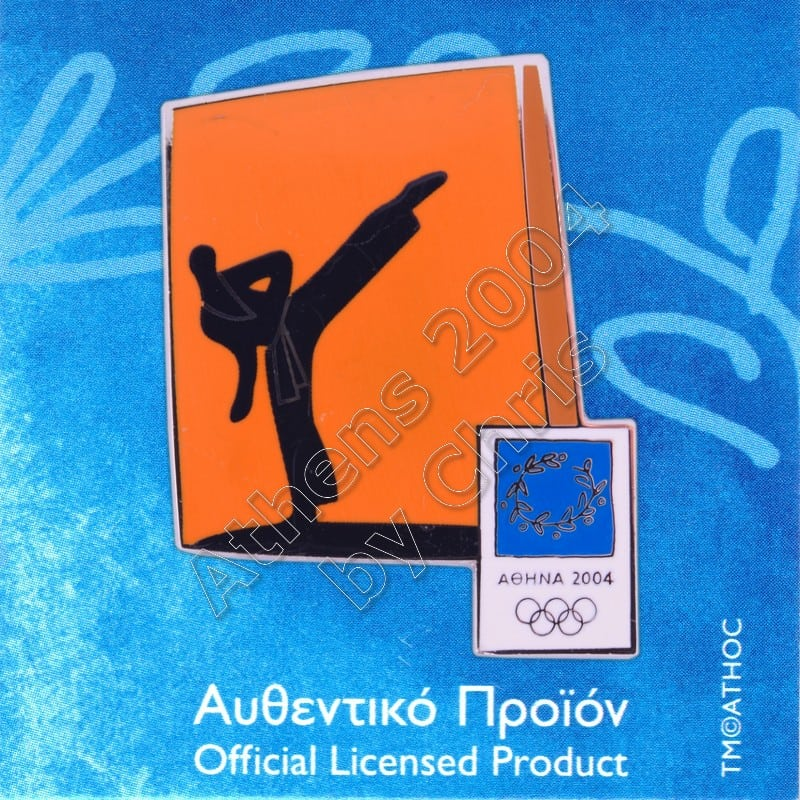 03-074-028 Taekwondo sport Athens 2004 olympic pictogram pin