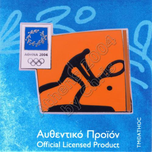 03-074-029 Tennis sport Athens 2004 olympic pictogram pin