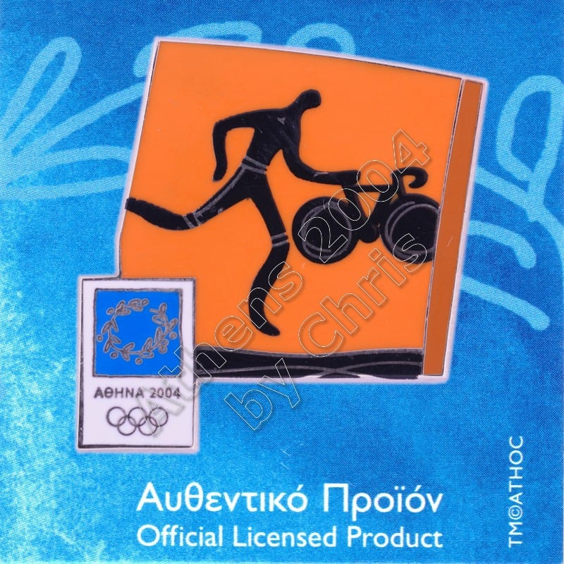 03-074-030 Triathlon sport Athens 2004 olympic pictogram pin