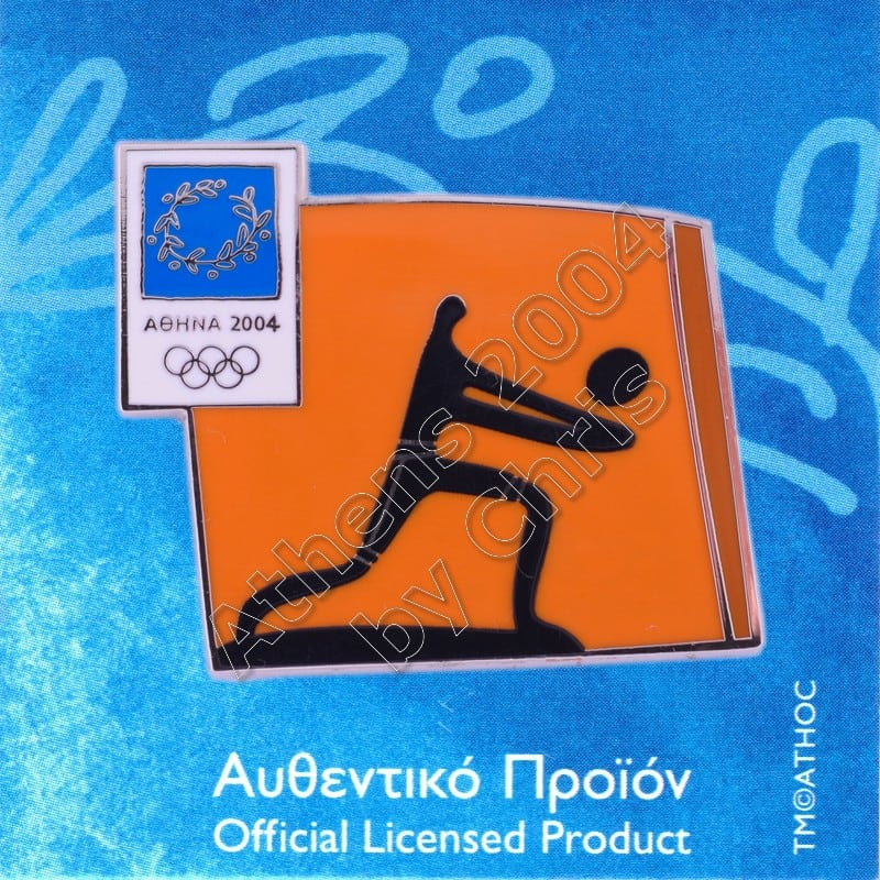 03-074-031 Volleyball sport Athens 2004 olympic pictogram pin