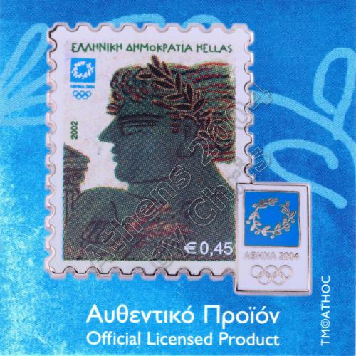 "02-017-002 Stamp ""Winners"" 02 Alekos Fassianos Athens 2004 Olympic Pin"
