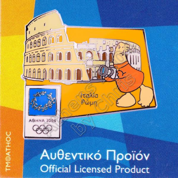 04-128-002 Rome Italy Colosseum Athens 2004 Olympic Pin