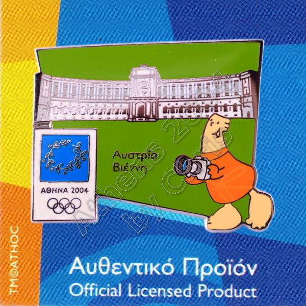 04-128-011 Vienna Austria Hofburg Palace Athens 2004 Olympic Pin