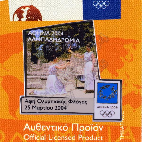 04-168-001-lighting-of-the-flame-in-ancient-olympia-athens-2004-olympic-pin