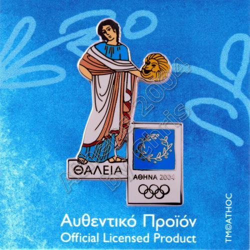 PN0710003 Thalia Muse Greek Mythology Athens 2004 Olympic Pin