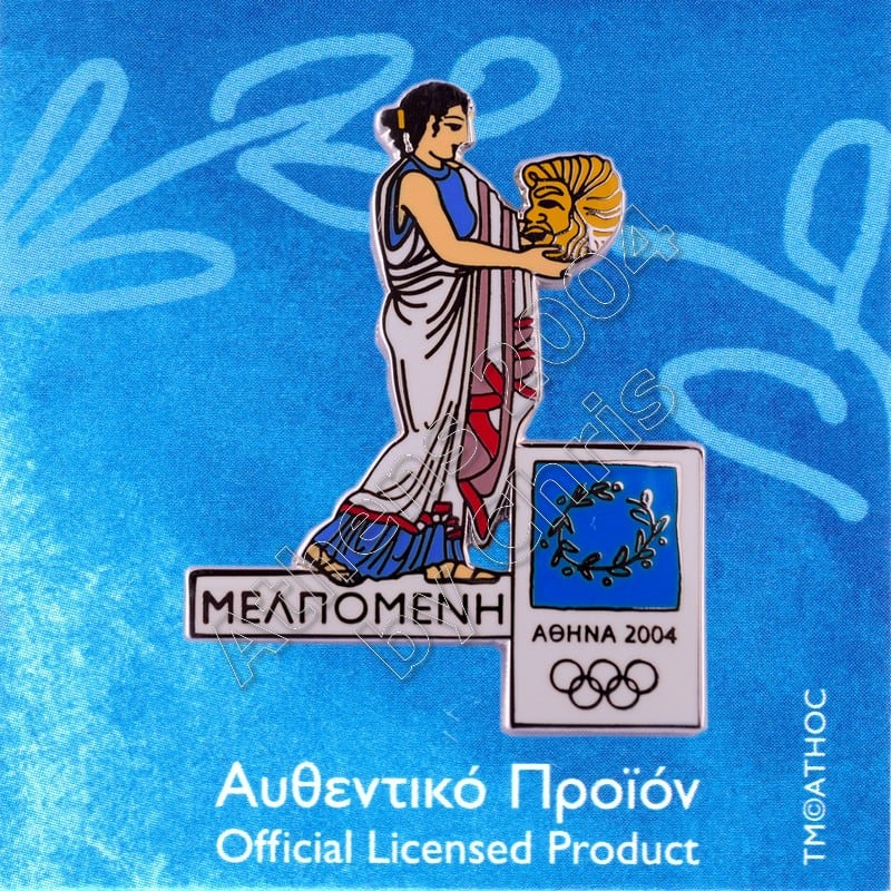 PN0710006 Melpomene Muse Greek Mythology Athens 2004 Olympic Pin